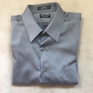 like new | Men's Grey Sateen Dress Shirt